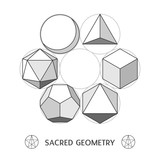 Plato classic geometry forms. Vector illustration