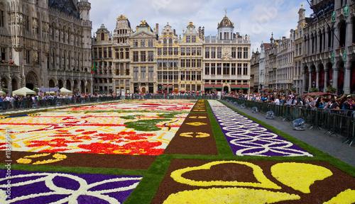 Fotobehang Brussel Tapis de Fleurs 2016 in Brüssel
