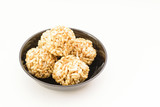Pori Urundai or Murmura balls (Sweet Puffed Rice balls)