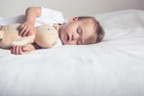 Baby sleep with plush toy