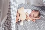 Sleeping baby in teepee - 118209366