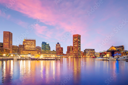 Inner Harbor area in downtown Baltimore Poster