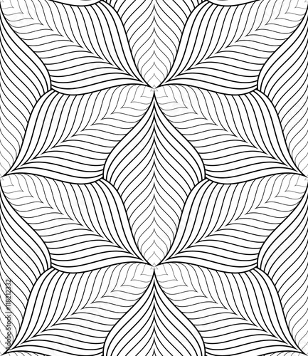 Black and white abstract geometric seamless pattern. - 118212332