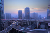 Shanghai city overpass