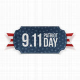 Patriot Day 11th September realistic Label