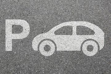 Parkplatz Auto parken Fahrzeug Stadt Verkehr Mobilität