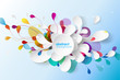 Abstract background with paper flower. - 118232994