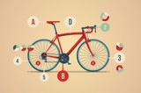 bicycle info graphuc