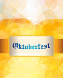 Oktoberfest sign. Beer mug. Vector illustration. Low poly.
