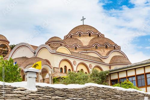 Zdjęcia na płótnie, fototapety, obrazy : View of Monastery of Archangel Michael, Thassos island, Greece