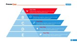 Five Stages Pyramid Diagram Slide Template