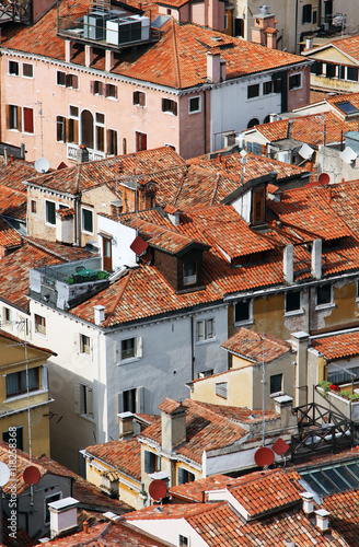 Obraz na Szkle Italy. Venice. Top view on roofs
