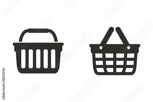Shopping basket - vector icon.