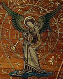 Angel making music (trumpet)