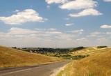 Road between hills