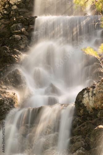 Zdjęcia na płótnie, fototapety, obrazy : The waterfall of Loutraki city in Greece.