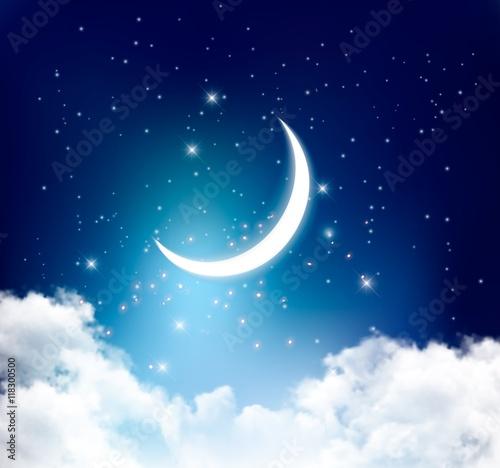nocnego-nieba-tlo-zz-polksiezyc-ksiezyc-chmurami-i-gwiazdami