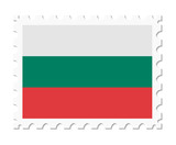 stamp flag bulgaria
