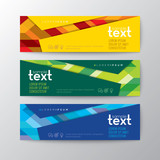 banners template with abstract line pattern background