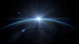 Sunrise over earth a...