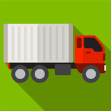 Truck flat icon illustration