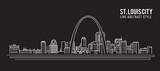 Fototapety Cityscape Building Line art Vector Illustration design - st. louis city