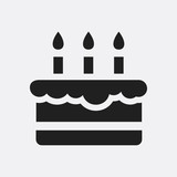 Birthday cake icon illustration