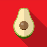 Avocado flat icon illustration