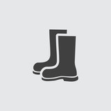 Rubber boot icon illustration