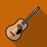 Guitar flat icon illustration