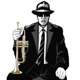 Jazz trumpet player - 118353728