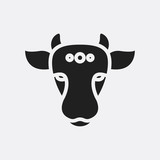 Indian cow icon illustration