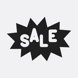 Sale label icon illustration