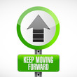 keep moving forward road sign concept