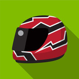 Helmet flat icon illustration
