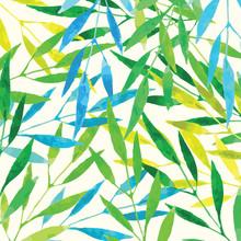 feuilles tropicales - aquarelle imitation