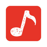 note music silhouette icon