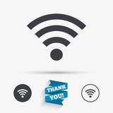 Wifi sign. Wi-fi symbol. Wireless Network.