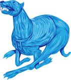 Greyhound Dog Racing Drawing