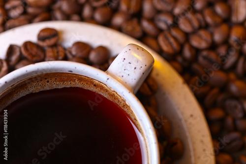 Fototapeta Cup of black coffee