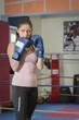 Boxtraining einer jungen Frau