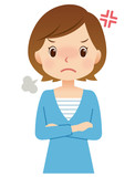 女性 主婦 表情 怒り