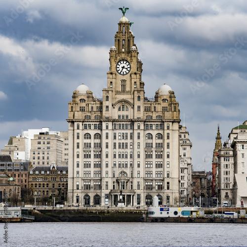 Poster Royal Liver building, Liverpool, England