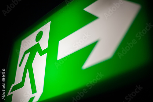Poster Emergency exit sign
