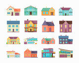 Big Set of Houses, Buildings and Architectures