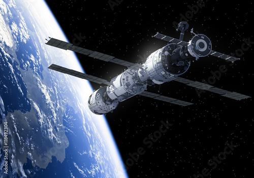 Zdjęcia na płótnie, fototapety na wymiar, obrazy na ścianę : International Space Station In Space