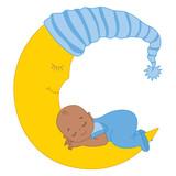 Vector African American Baby Boy