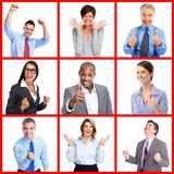 Happy business people portrait.