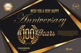 Retro vintage anniversary background 100 years