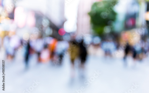 Abstract background of people on the street